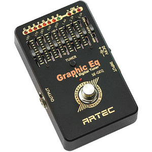[Artec] BLACK AIR PEDAL  Graphic EQ & Digital Tuner (SE-GEQ)